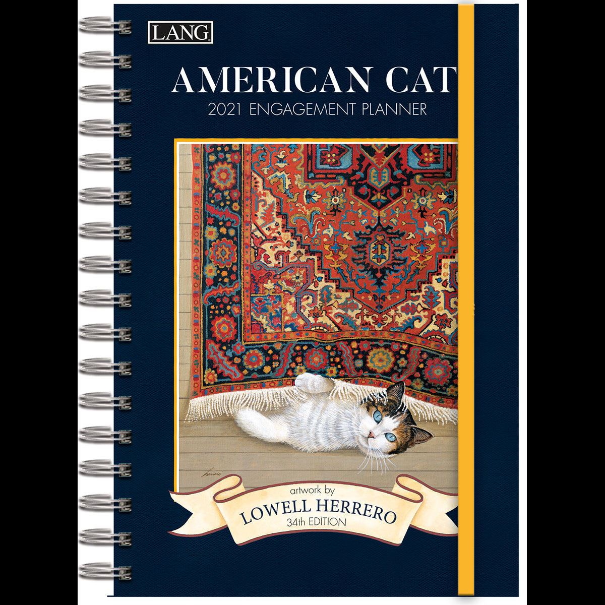 Lang 2021 American Cat Spiral Bound Engagement Planner