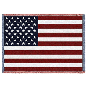 American Flag Woven Throw