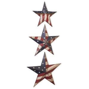 Americana Flag Tin Barn Star