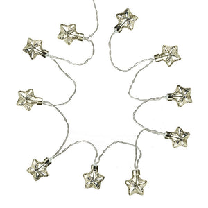 String of Glass Light-Up Stars
