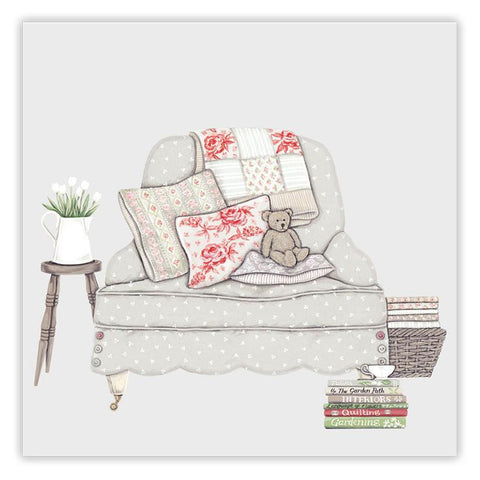 Sally Swannell 'Bear on a Chair' Greetings Card