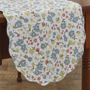 "Bloom Print Quilted Table Runner 13"" x 36"""
