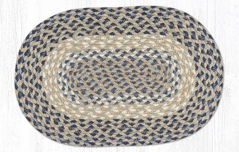 BLUE/NATURAL BRAIDED PLACEMAT