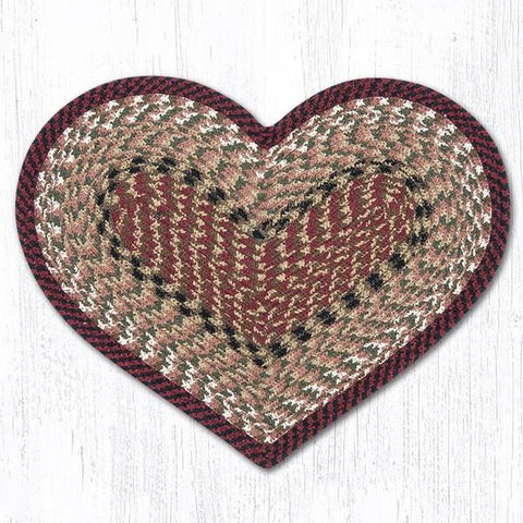 BURGUNDY/MUSTARD HEART PLACEMAT