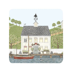 "Sally Swannell ""Captain's House"" Coaster"