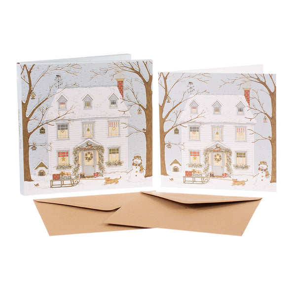 Sally Swannell Christmas Card Pack - Christmas House