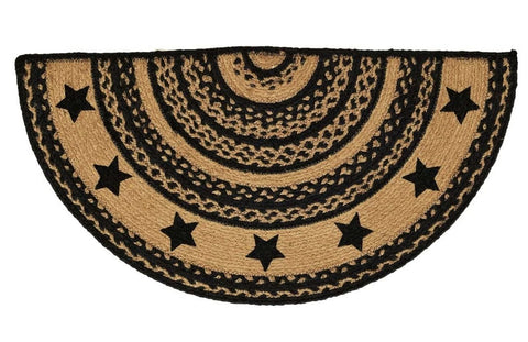 Farmhouse Jute Half Circle Rug 16.5x33