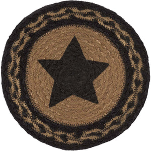 Farmhouse Jute Stencil Star Trivet 8""