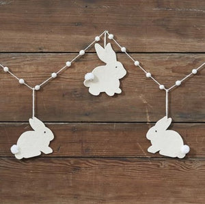Felt Easter Bunny Garland, 6ft