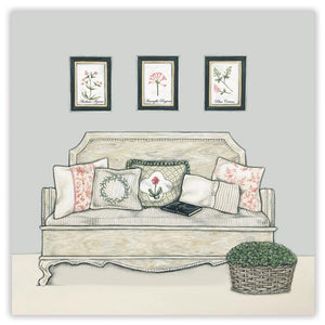 Sally Swannell 'French Bench' Greetings Card