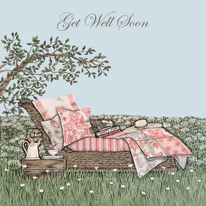 Sally Swannell 'Garden Chaise' Get Well Card