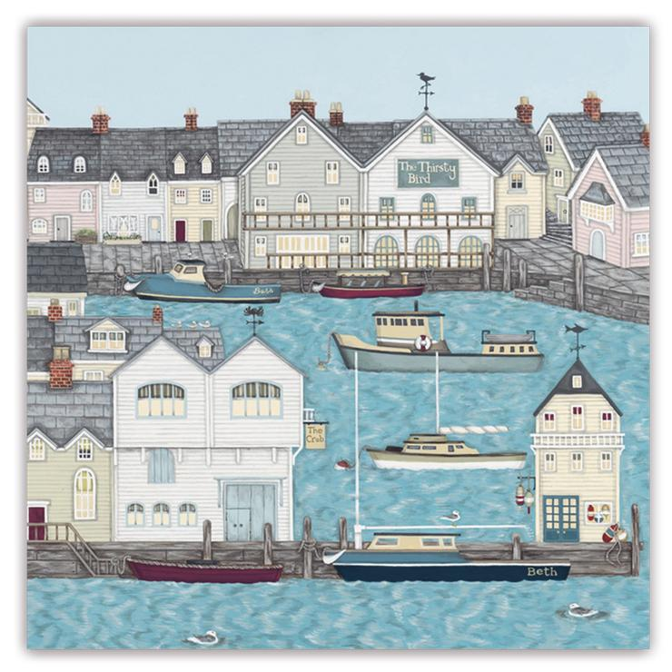 Sally Swannell 'Harbour' Greetings Card