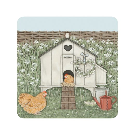 "Sally Swannell ""Hen House"" Coaster"