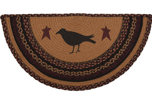 Heritage Farms Crow Jute Half Circle Rug 16.5x33""