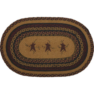 Heritage Farms Star & Pip Jute Rug Oval 20x30""