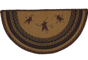 Heritage Farms Star & Pip Jute Half Circle Rug 16.5x33""