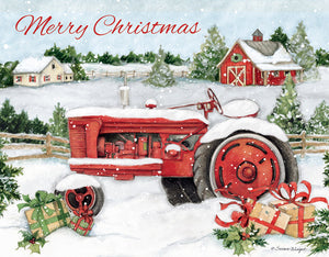 "Lang ""Snowy Tractor"" Boxed Christmas Cards"