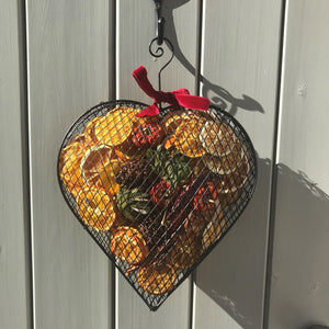 Pollyfields Large Scented Cage Heart Decoration