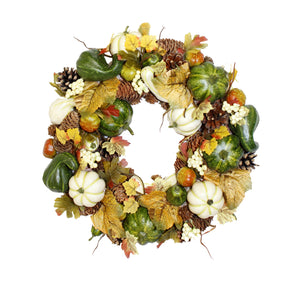 Pumpkin Garden Luxury Wreath 36cm