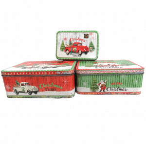 Set of Three Christmas Tins
