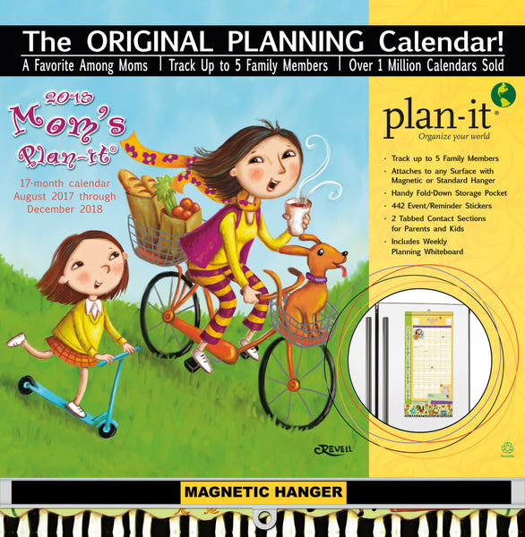 Mom's 2018 Plan It Plus Wall Calendar