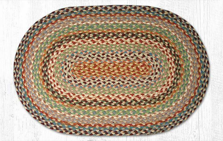 "Multi 1 Braided Oval Rug 20""x30"""