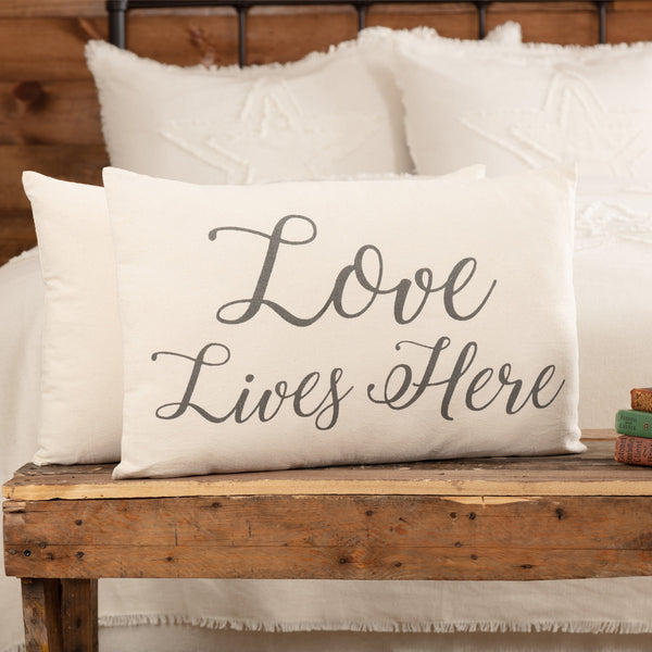 Natural Love Lives Here Cushion 14x22""