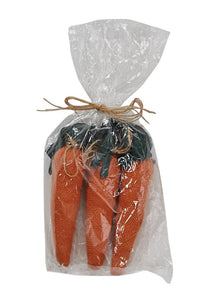 Pack of Three Stuffed Carrots