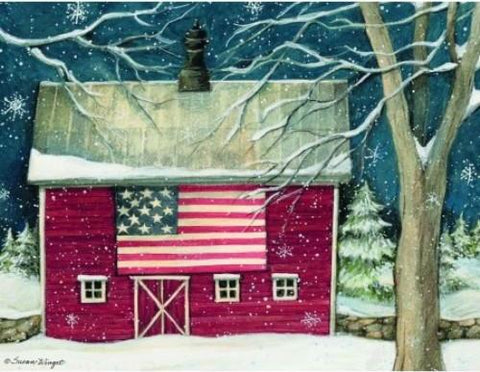 LANG PATRIOTIC HOLIDAY CHRISTMAS CARDS