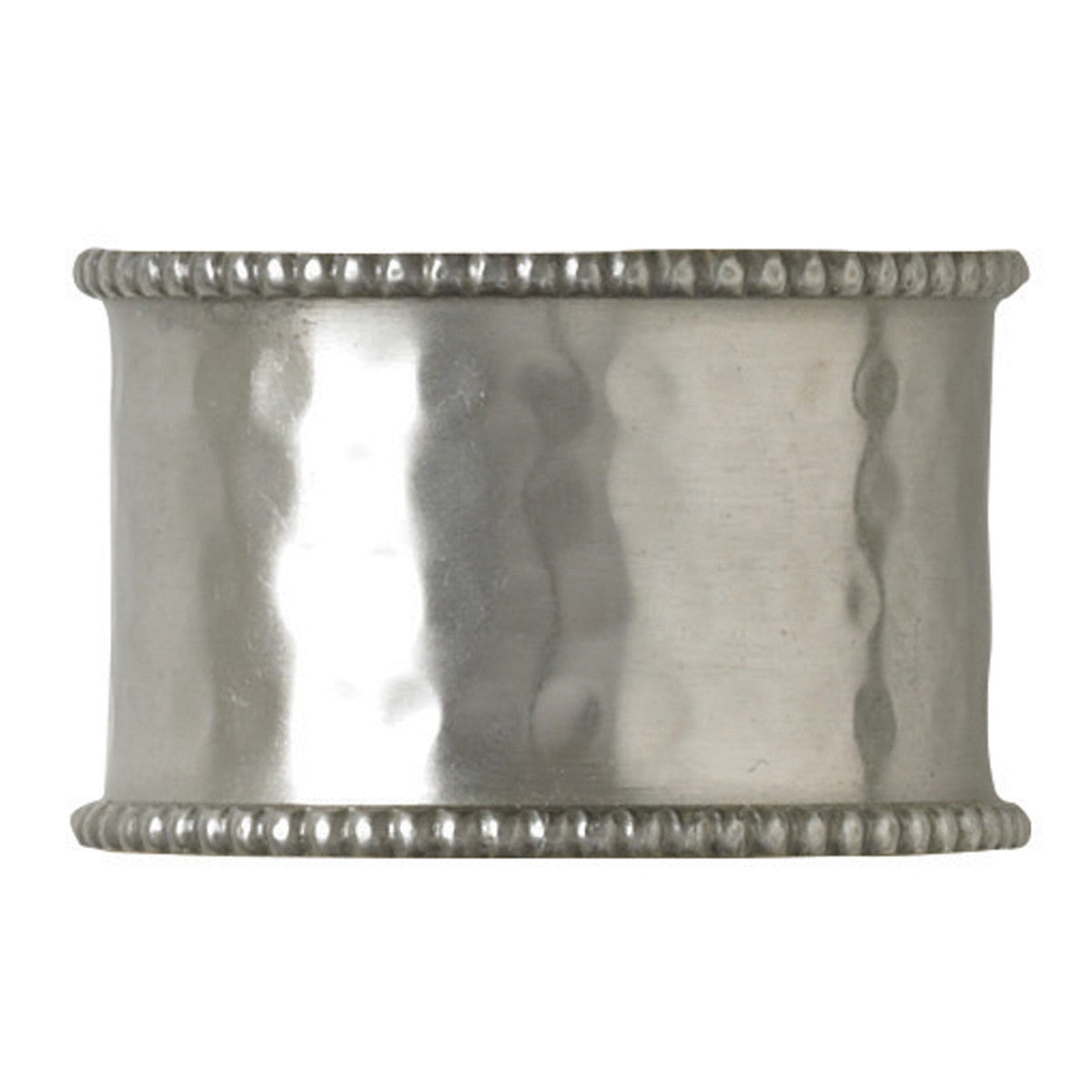 Hammered Cuff Napkin Rings - Pewter Finish