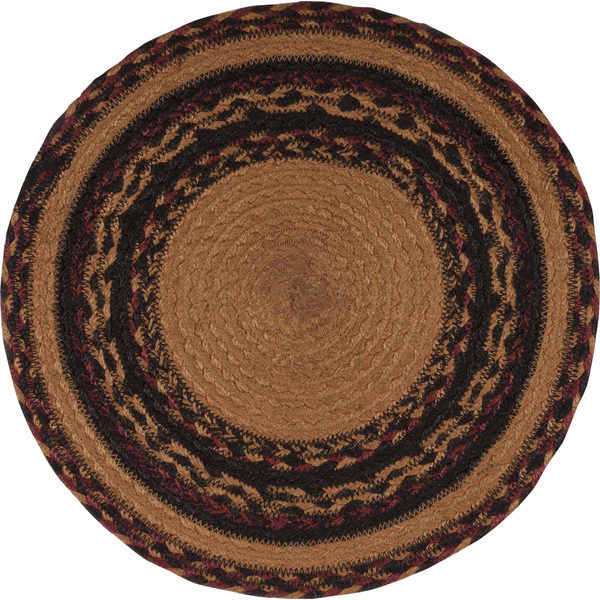 Jute Braided Tablemat, Primitive Crow 13""