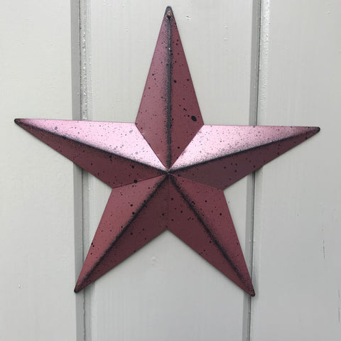 Burgundy Red Barn Star