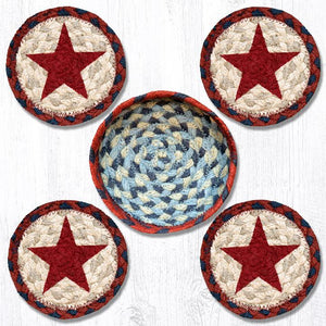 Red Star Braided Coaster Set