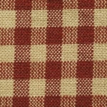 Homespun Cotton, Red/Tea-Dyed Small Check