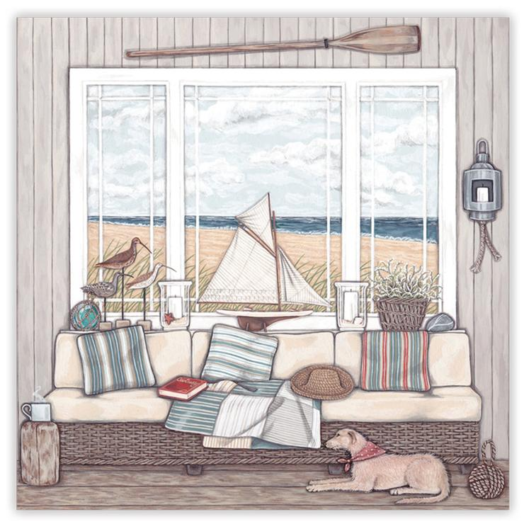Sally Swannell 'Room with a View' Greetings Card