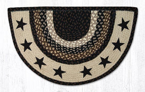 BLACK STAR BRAIDED RUG