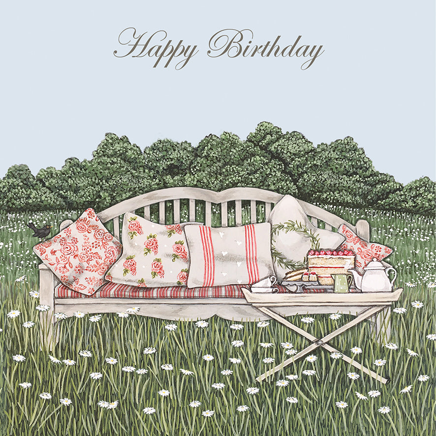 Sally Swannell 'Tea In The Garden' Birthday Card