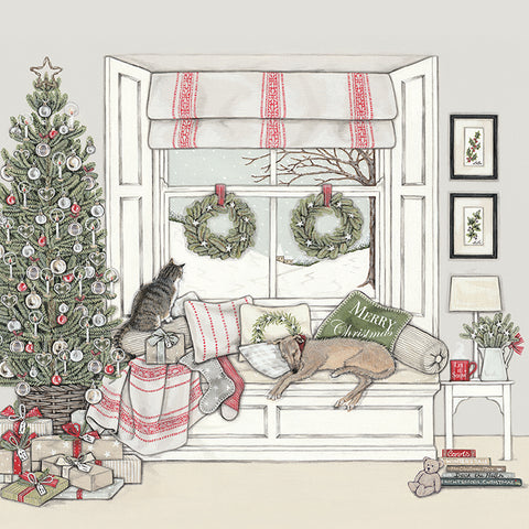 Sally Swannell Christmas Card Pack - Waiting for Father Christmas