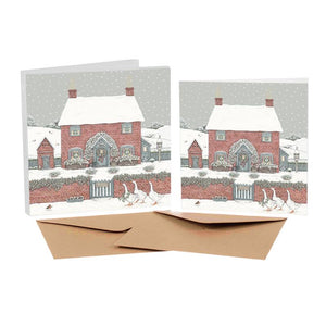 Sally Swannell Christmas Card Pack - Christmas Cottage