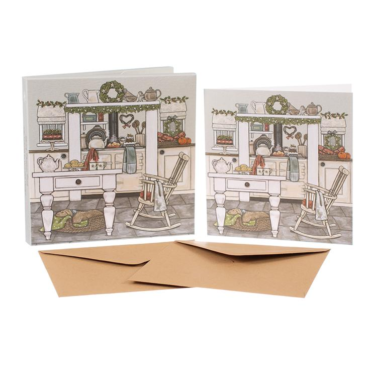 Sally Swannell Christmas Card Pack - Christmas Kitchen