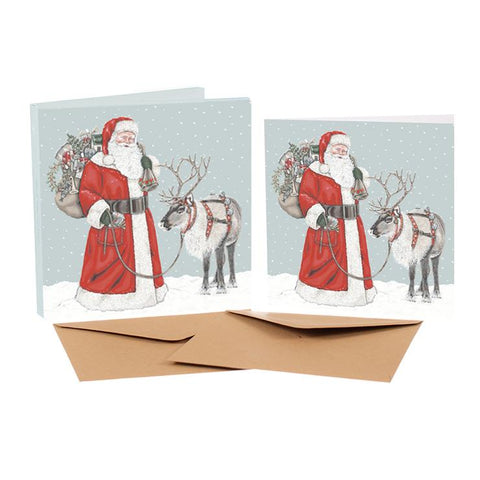 Sally Swannell Christmas Card Pack - Father Christmas And Friend