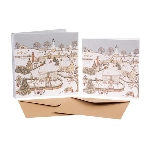 Sally Swannell Christmas Card Pack - Snowy Village