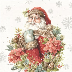 Santa with Wreath Coaster