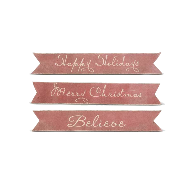 "24 ""Vintage Red"" Paper Christmas Banners"