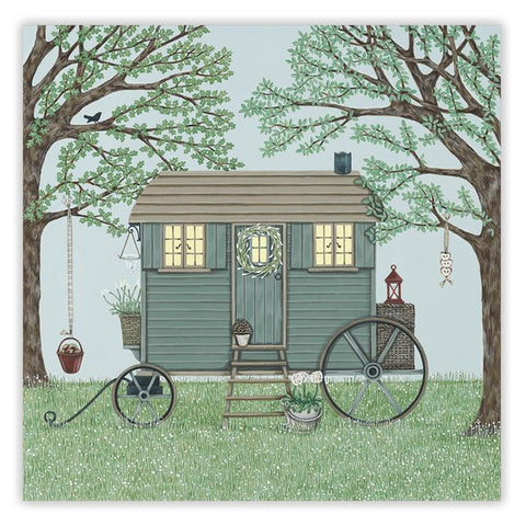 Sally Swannell 'Shepherds Hut' Greetings Card