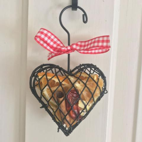 Small Scented Cage Heart Christmas Tree Decoration