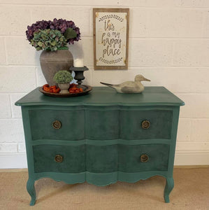 Chest of Drawers Painted in Sea Green Milk Paint