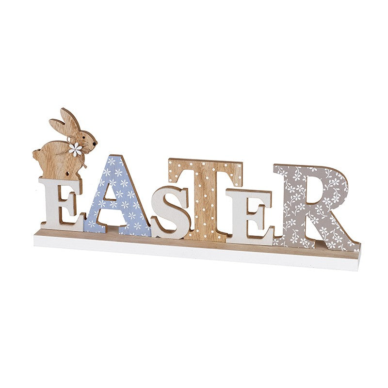 Standing Wooden Easter Sign