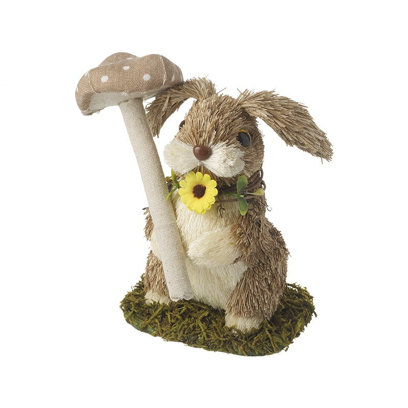 Standing Rabbit with Mushroom