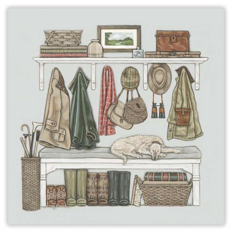 Sally Swannell 'The Boot Room' Greetings Card
